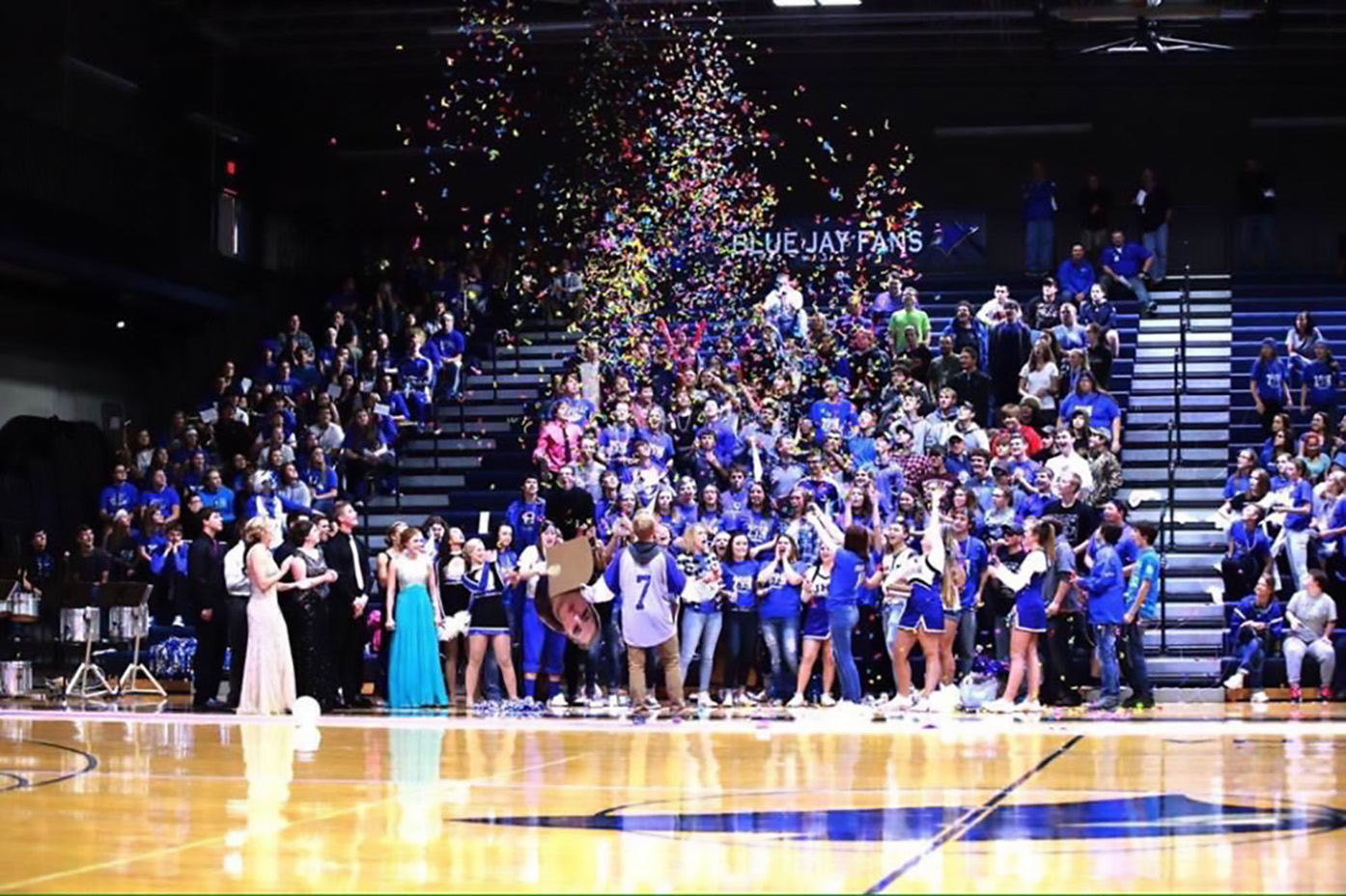 Senior Class of 2017 at the Homecoming Pep Rally
